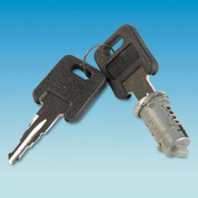WEST ALLOY SHORT TANG  LOCK +2 KEYS BY KEY NUMBER